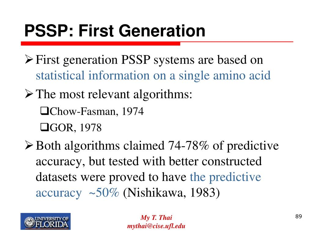 PSSP: First Generation