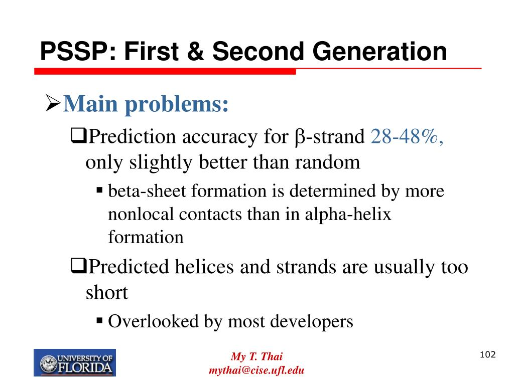PSSP: First & Second Generation