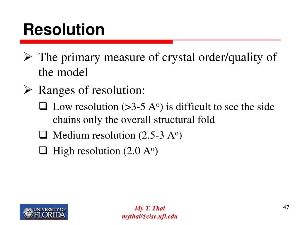 Resolution