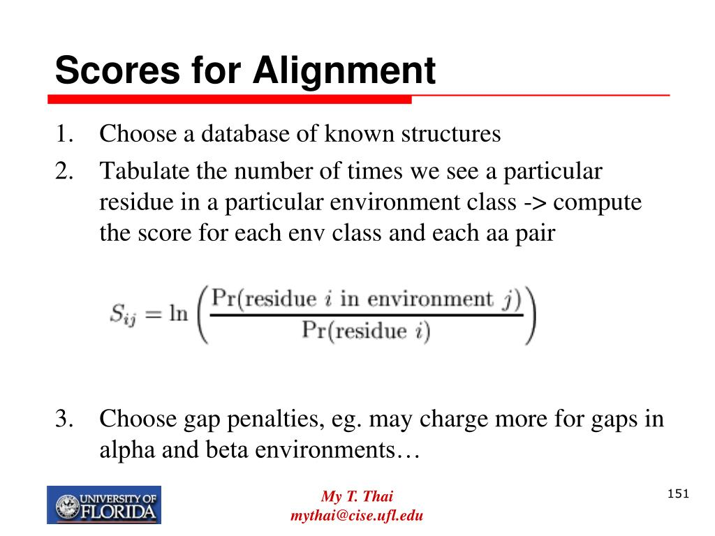 Scores for Alignment