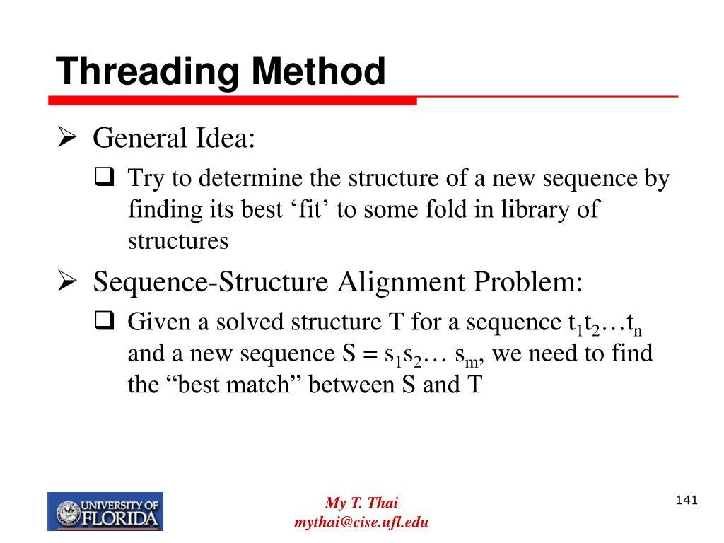 Threading Method