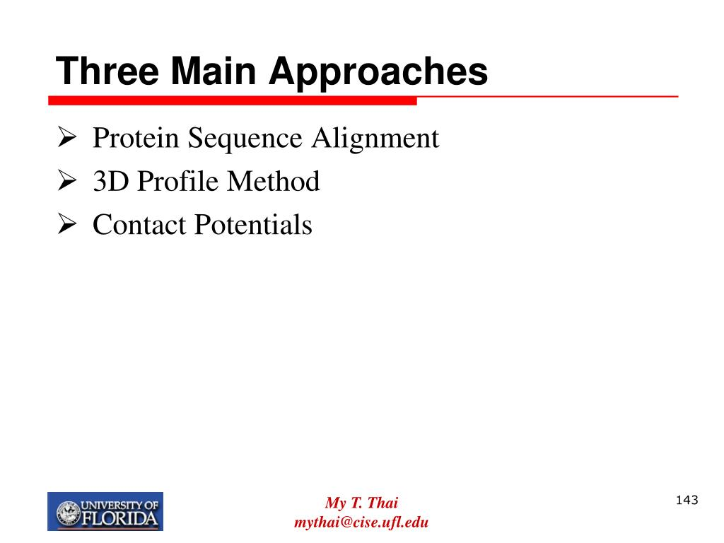 Three Main Approaches