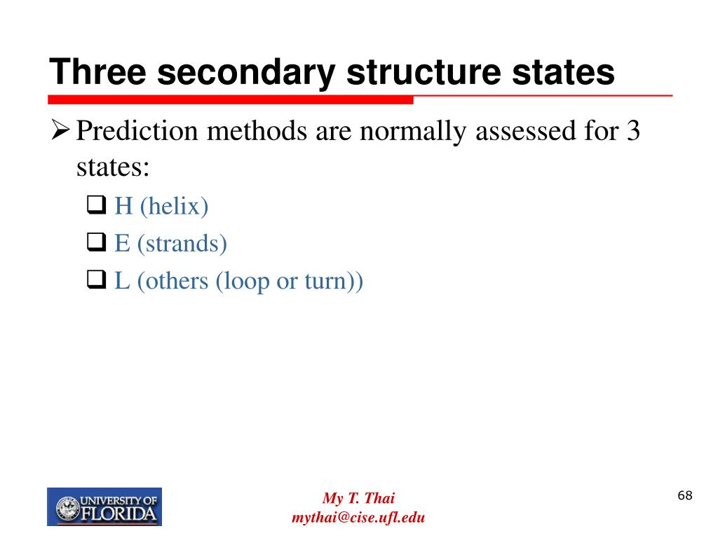 Three secondary structure states