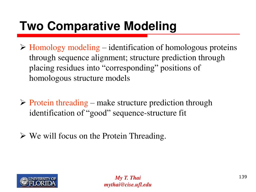 Two Comparative Modeling