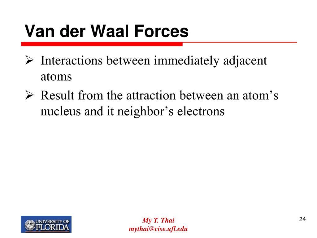 Van der Waal Forces