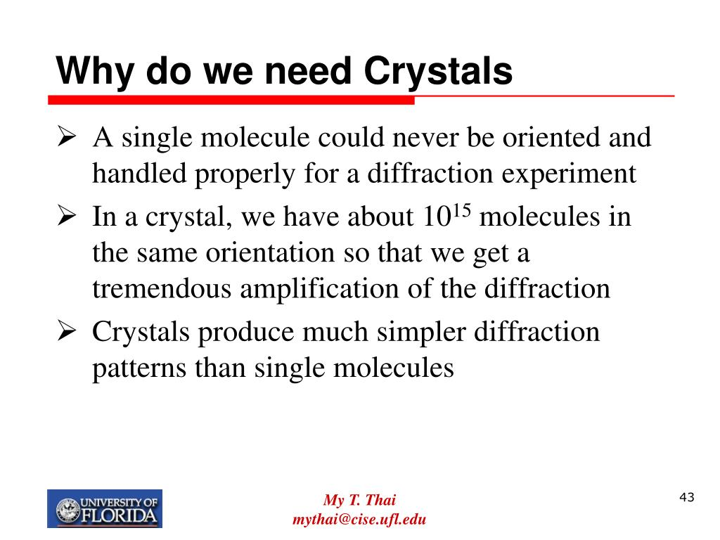 Why do we need Crystals