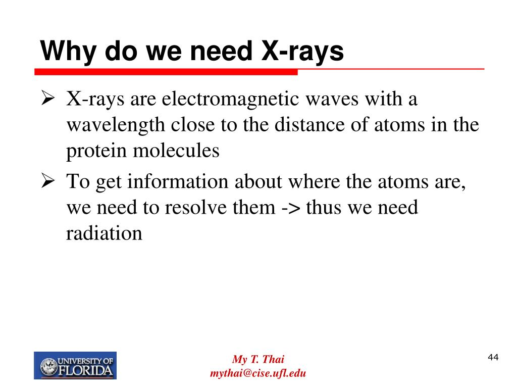 Why do we need X-rays