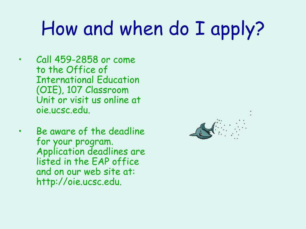 How and when do I apply?