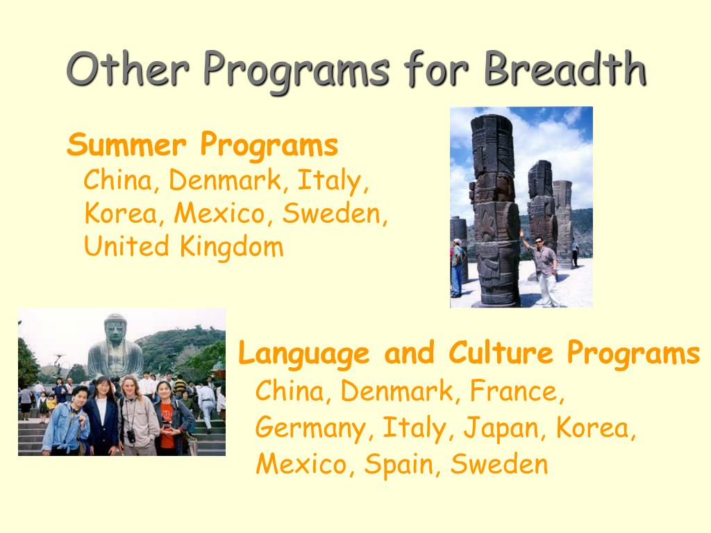 Other Programs for Breadth