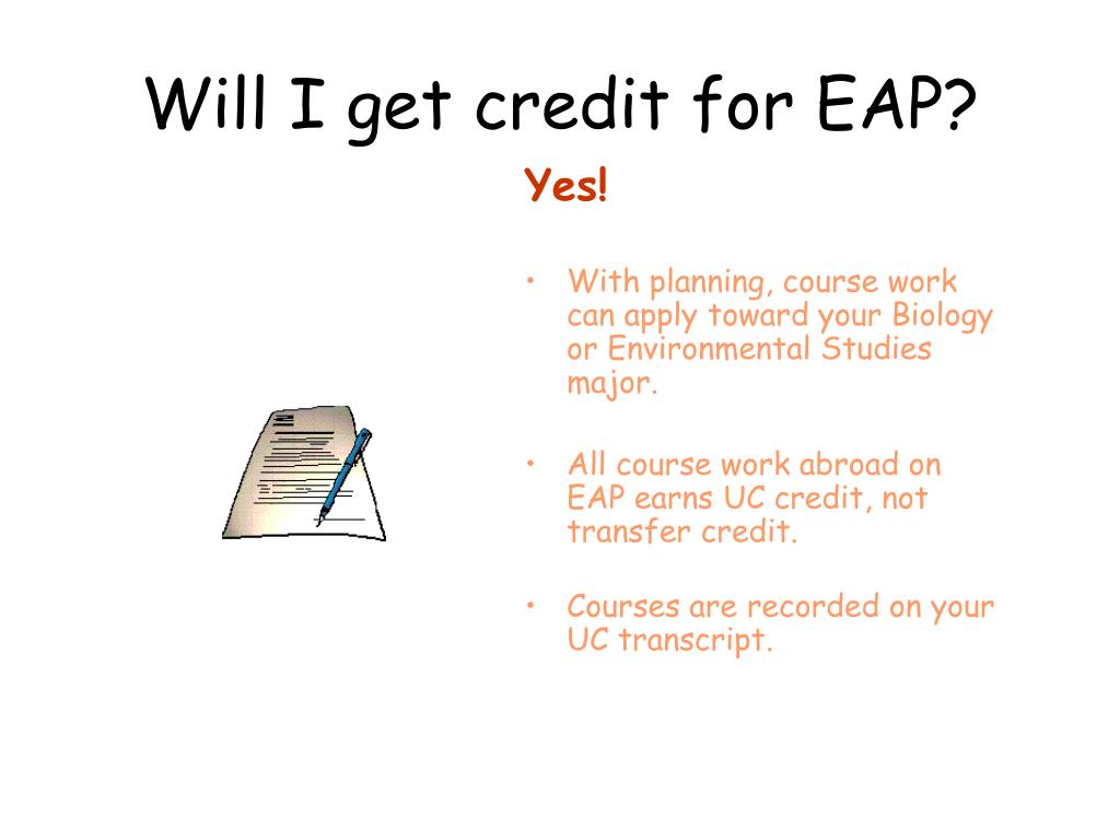 Will I get credit for EAP?