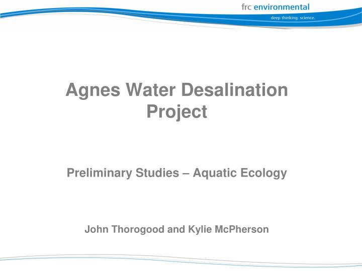 Agnes Water Desalination