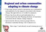 regional and urban communities adapting to climate change