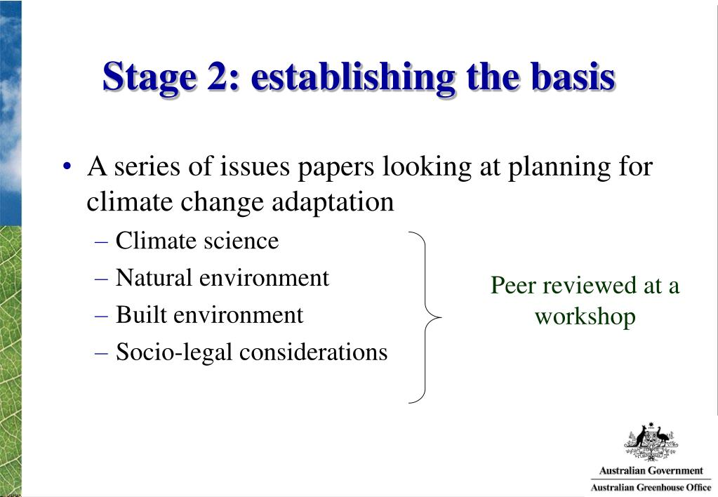 Stage 2: establishing the basis
