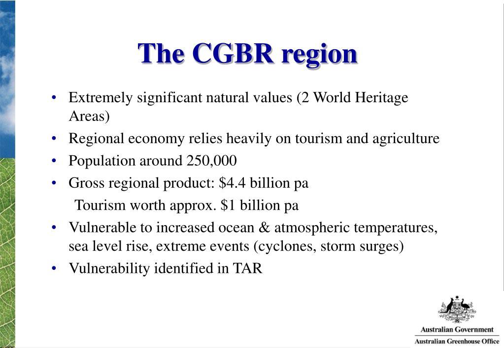 The CGBR region