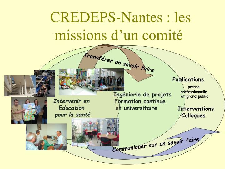 CREDEPS-Nantes : les missions d'un comité