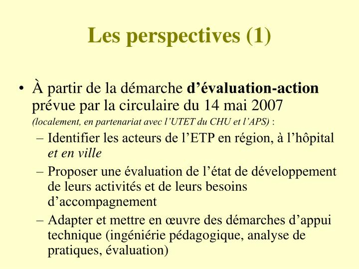 Les perspectives (1)