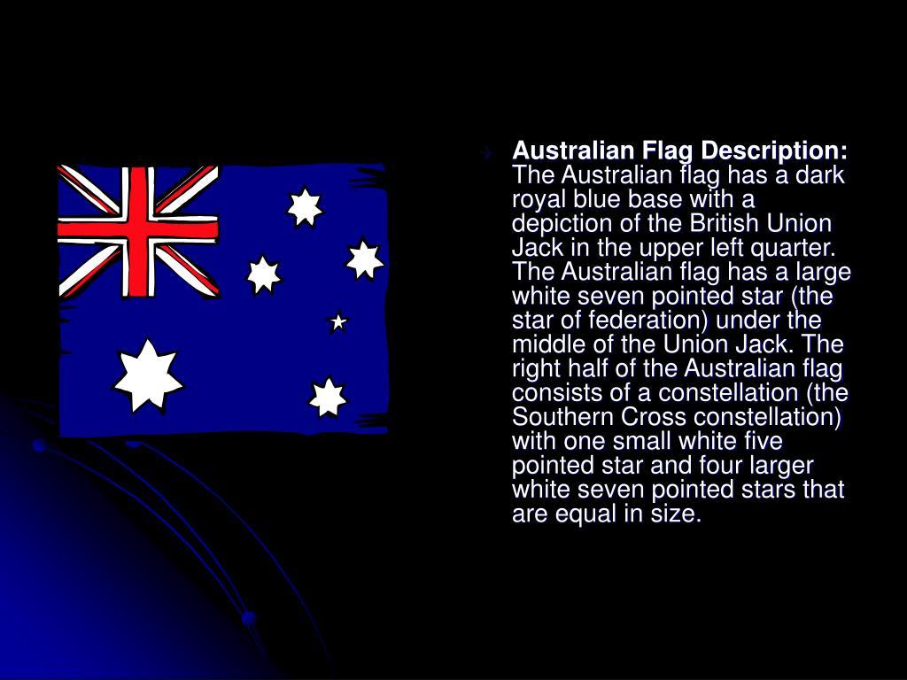 Australian Flag Description: