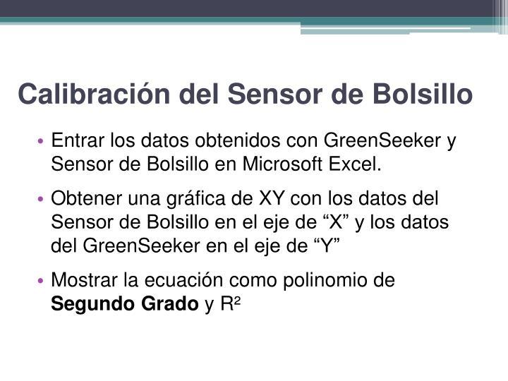 Calibración del Sensor de Bolsillo