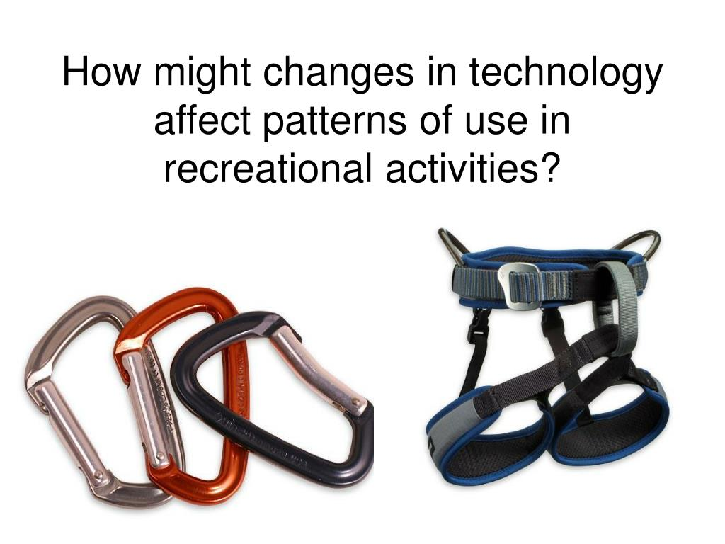 How might changes in technology affect patterns of use in recreational activities?