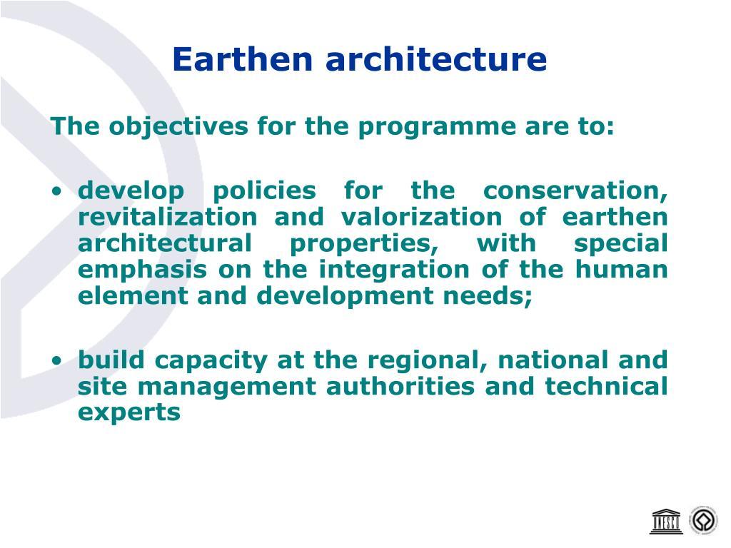 Earthen architecture