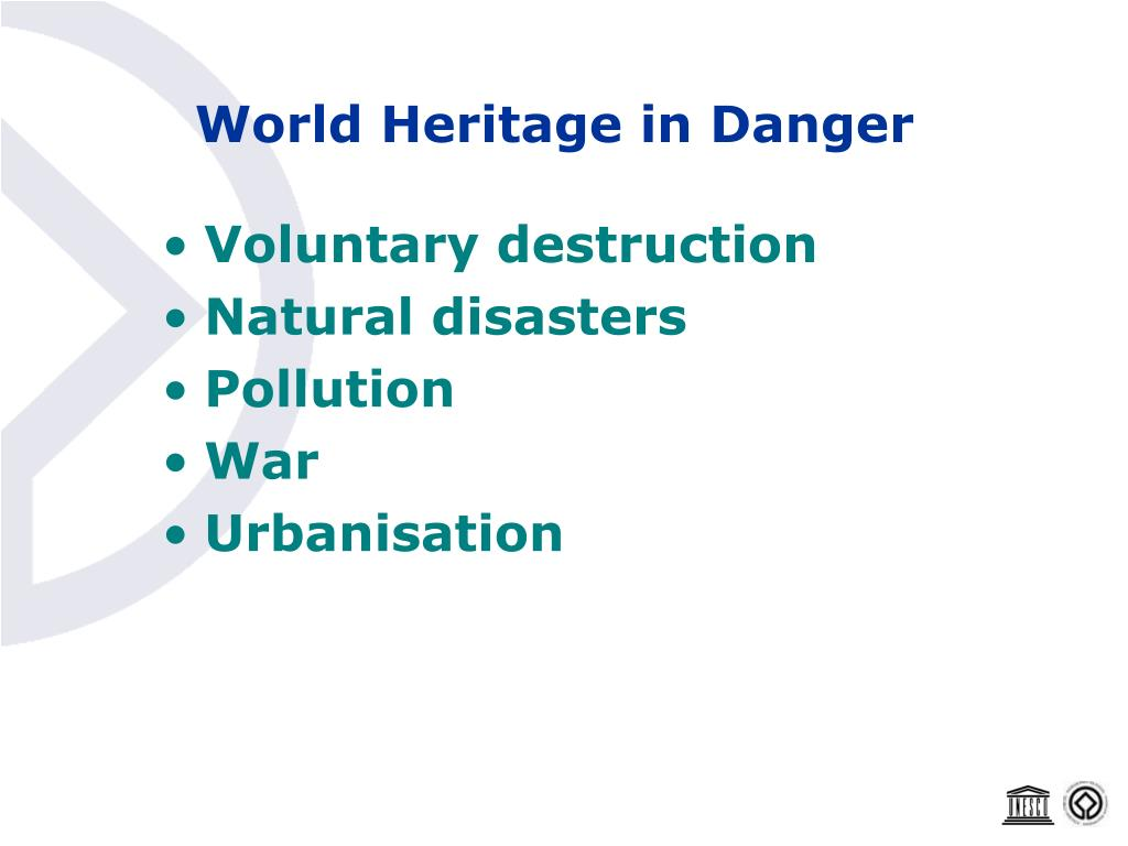 World Heritage in Danger