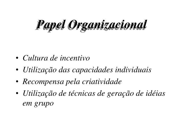 Papel Organizacional