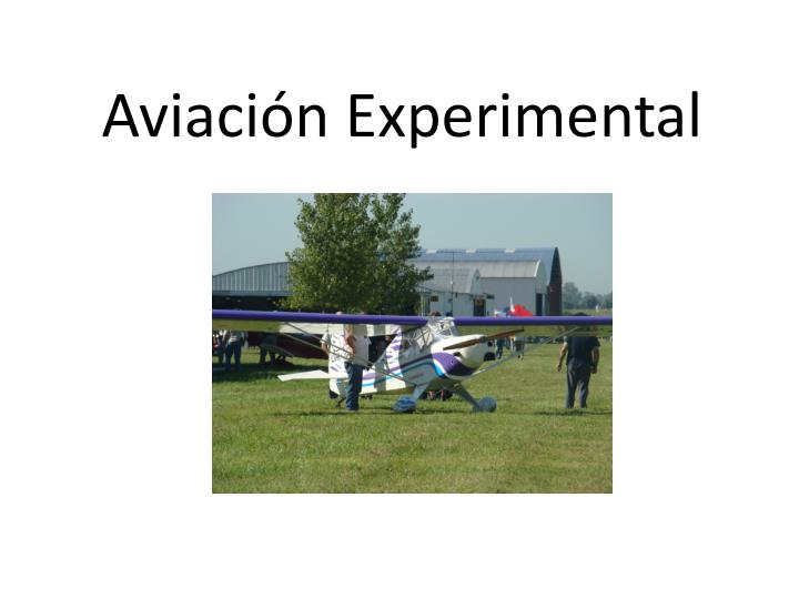 Aviaci n experimental