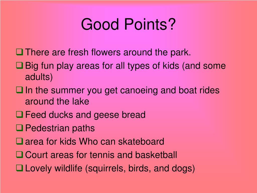 Good Points?