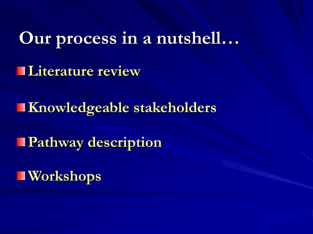 Our process in a nutshell…