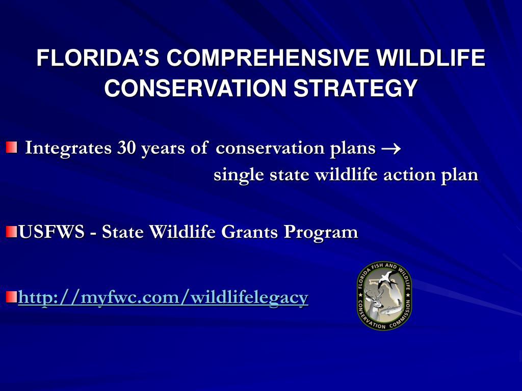 FLORIDA'S COMPREHENSIVE WILDLIFE