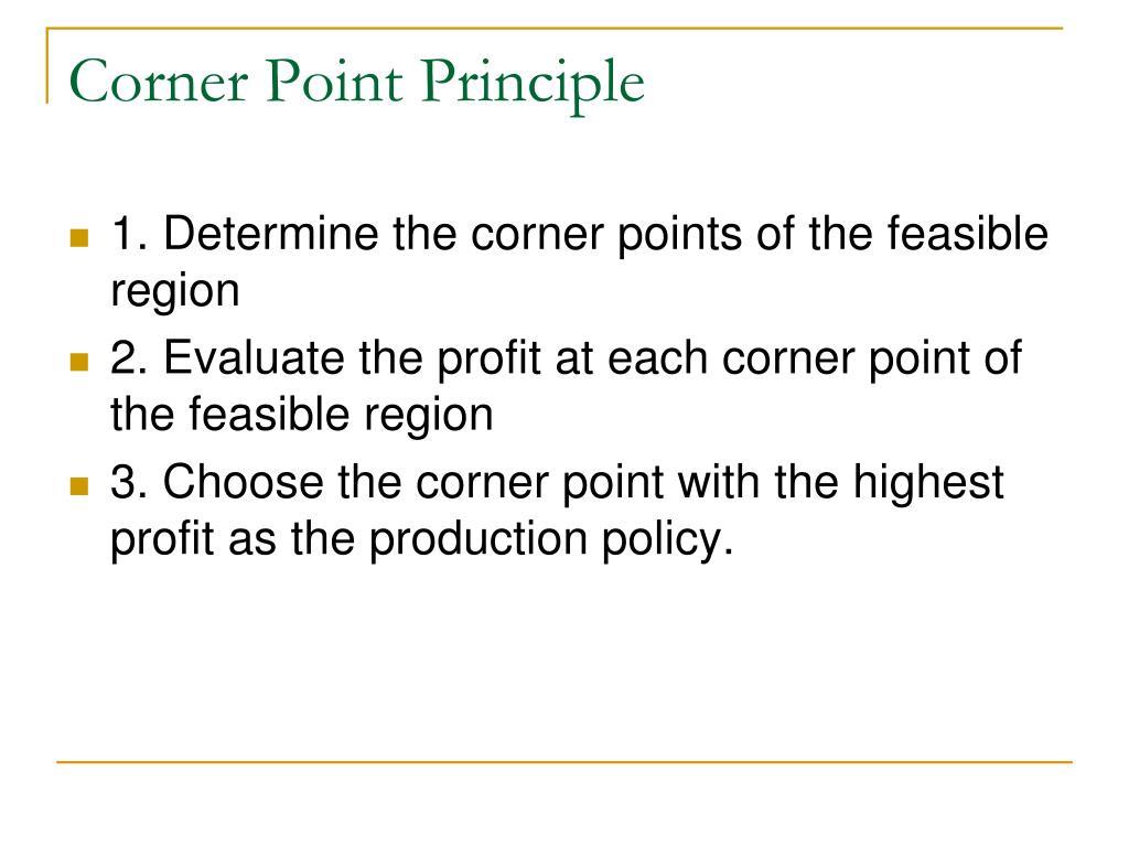 Corner Point Principle