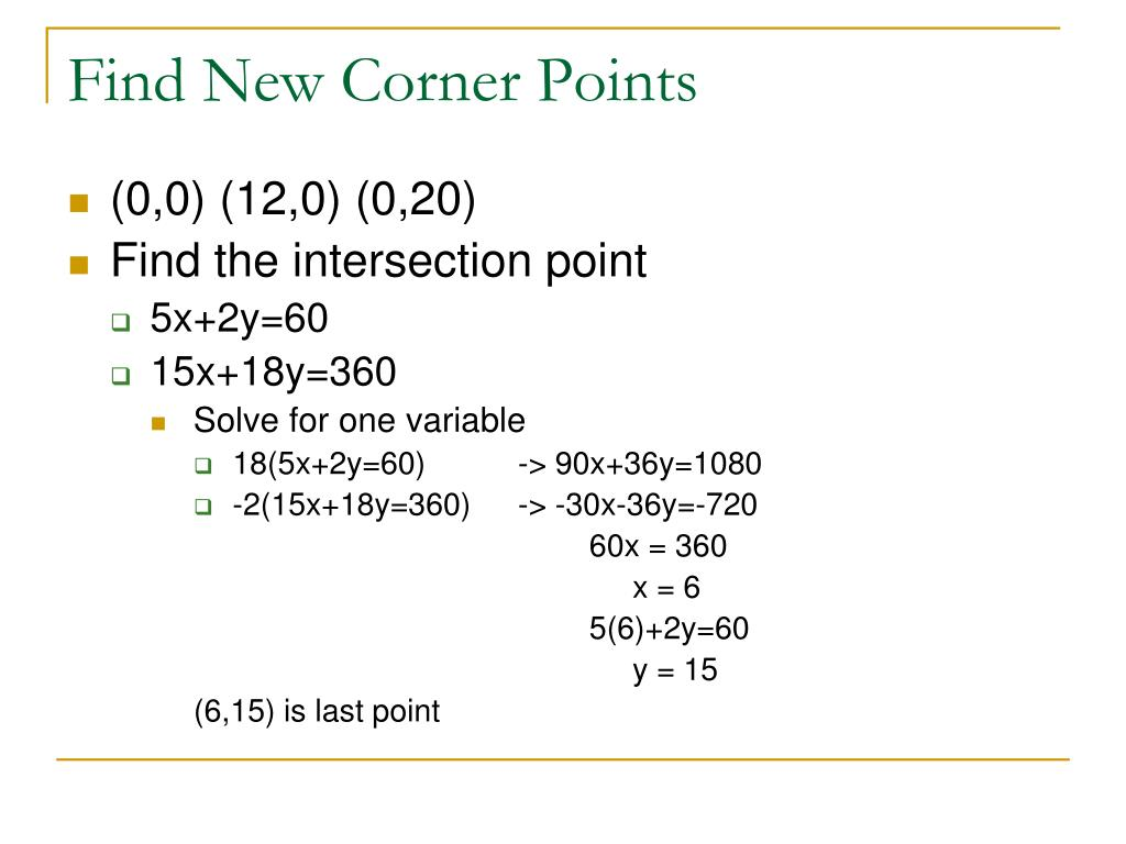 Find New Corner Points