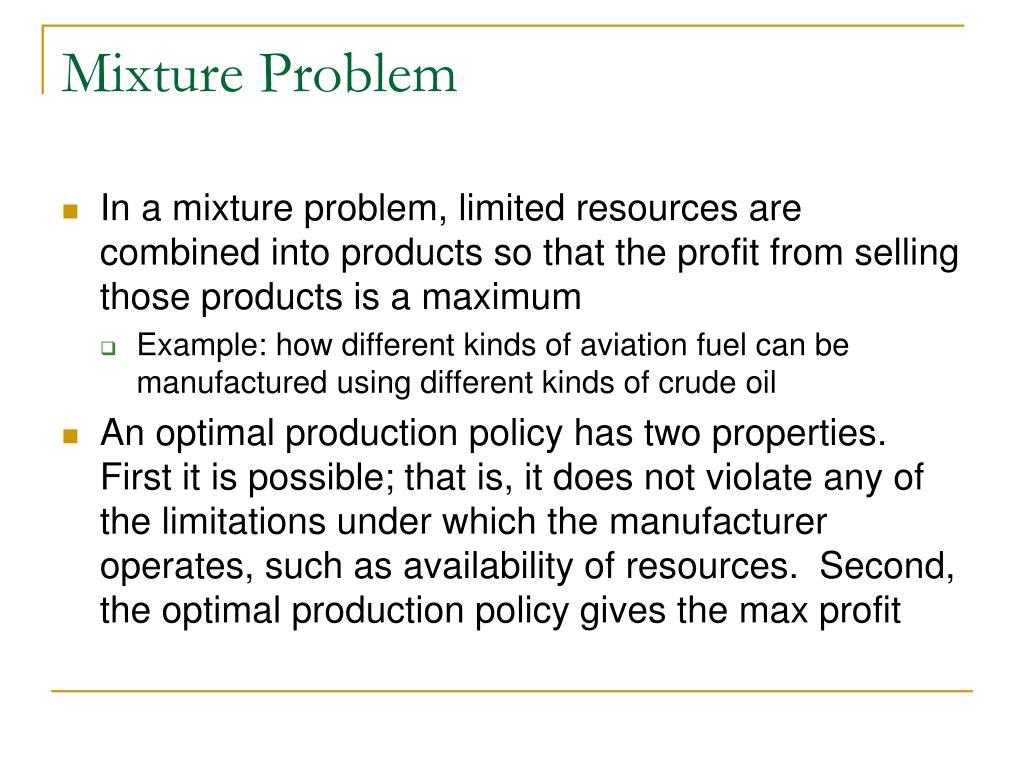 Mixture Problem