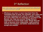3 rd reflection