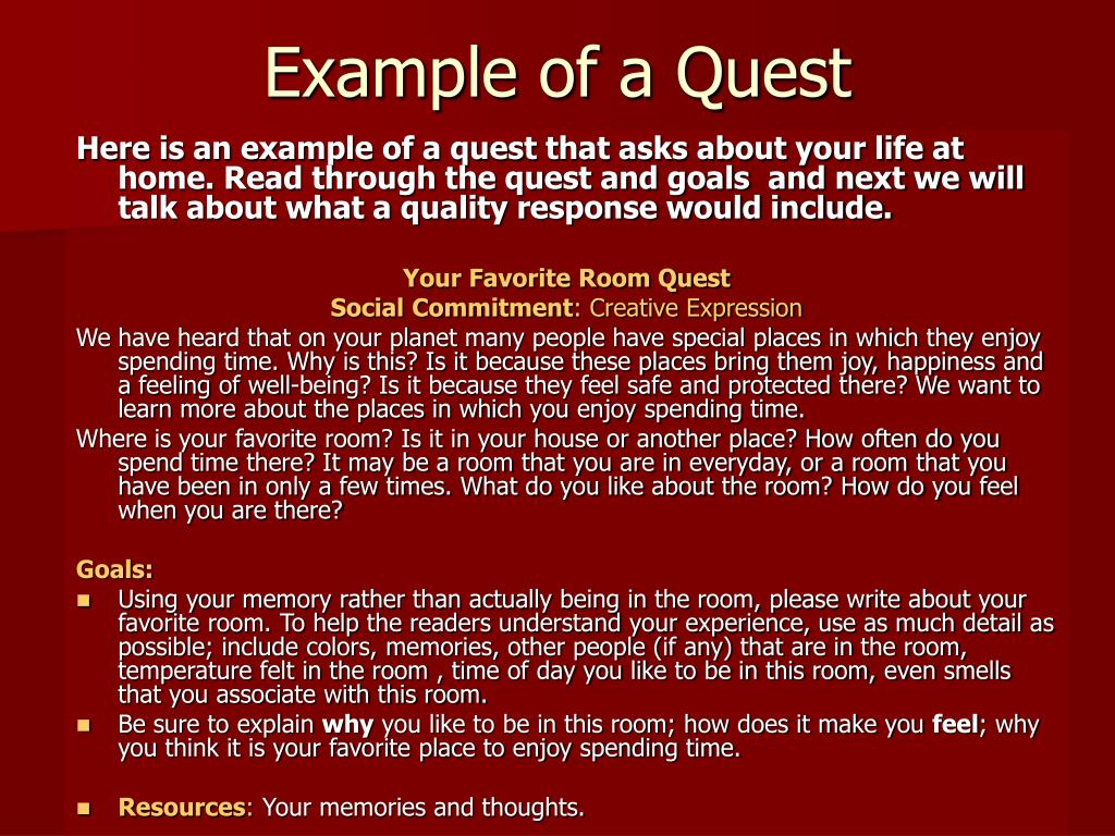 Example of a Quest