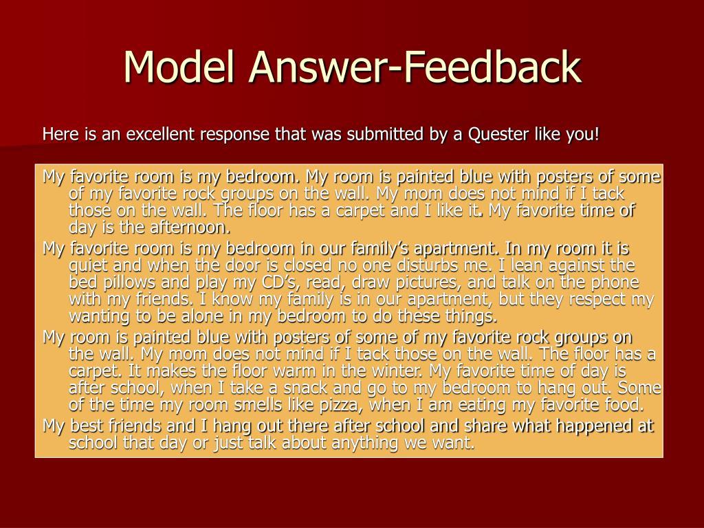 Model Answer-Feedback