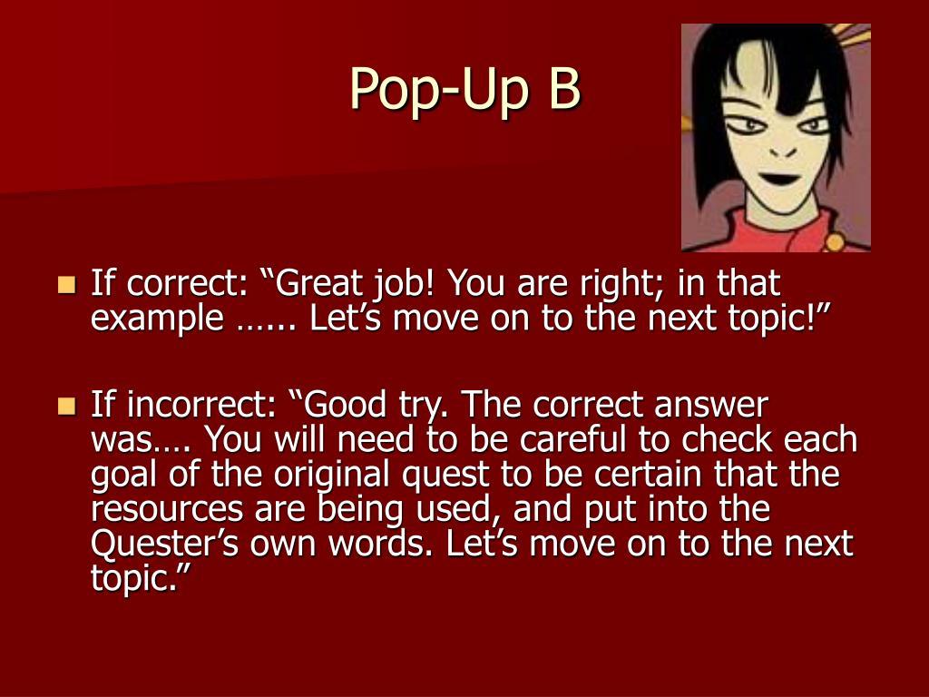 Pop-Up B