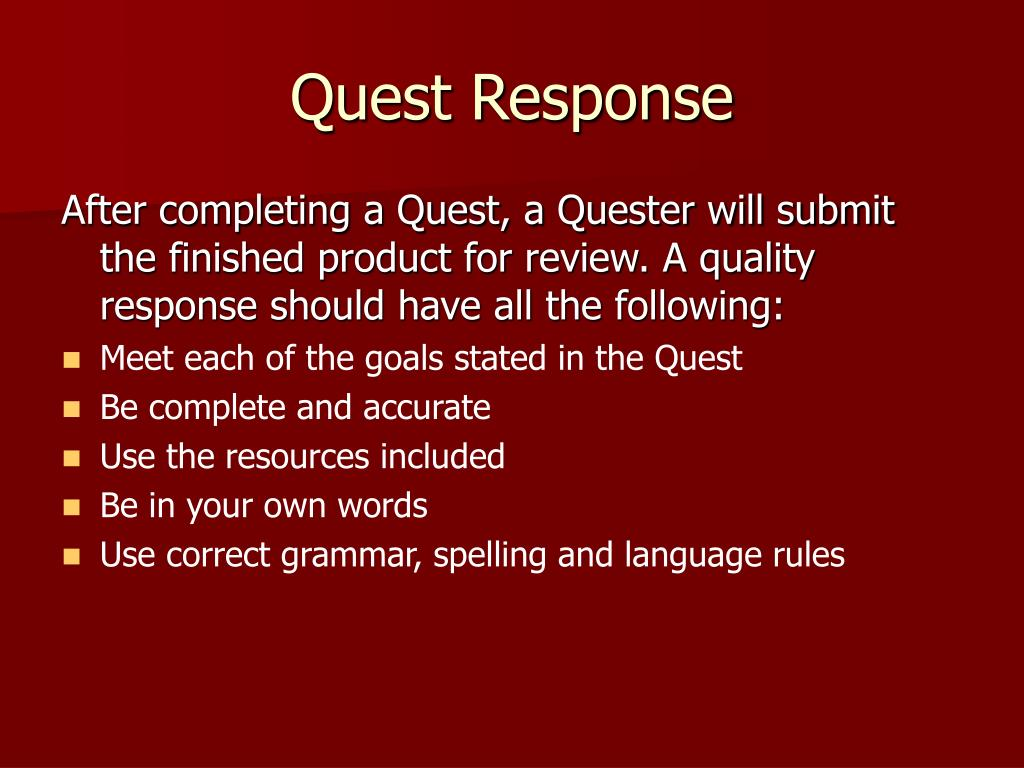 Quest Response
