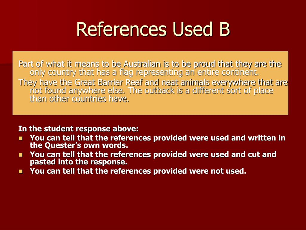 References Used B