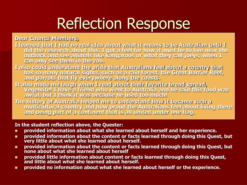 Reflection Response