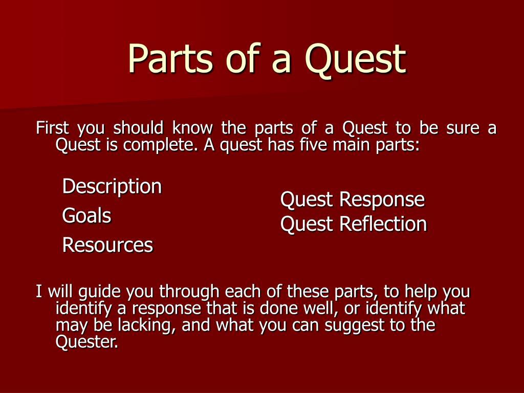Parts of a Quest