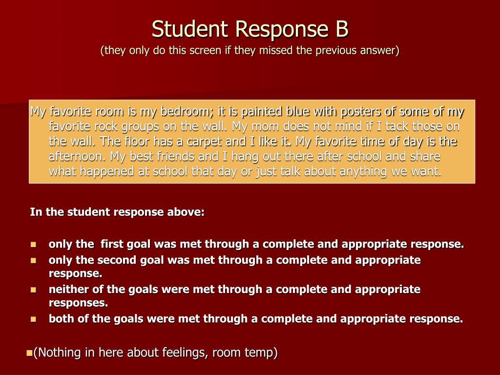 Student Response B