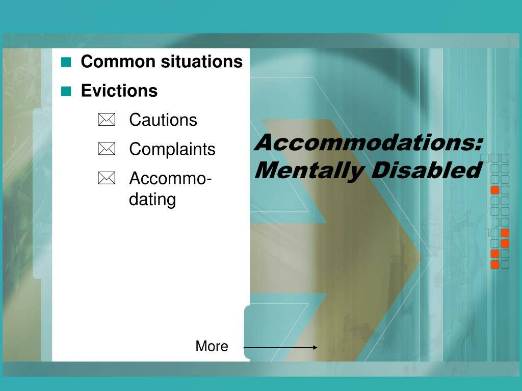 Accommodations: