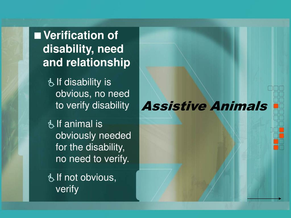 Assistive Animals