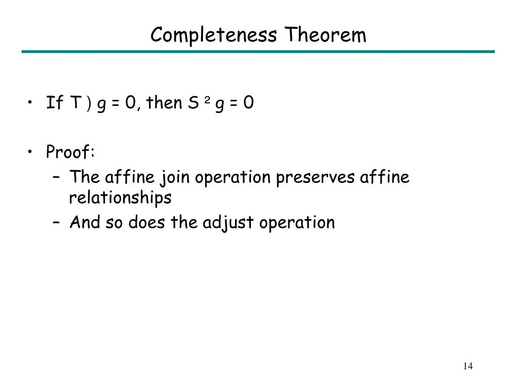 Completeness Theorem