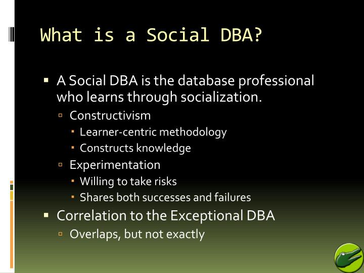 What is a Social DBA?