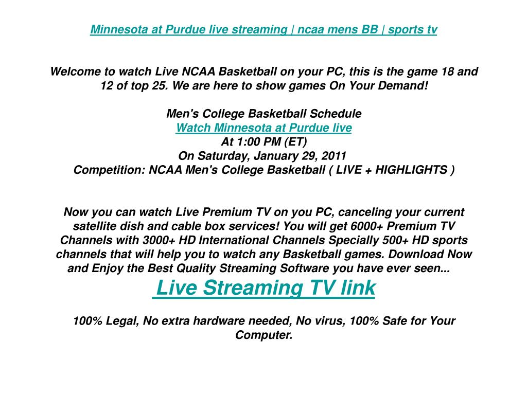 Minnesota at Purdue live streaming | ncaa mens BB | sports tv