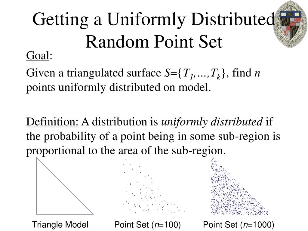 Getting a Uniformly Distributed Random Point Set
