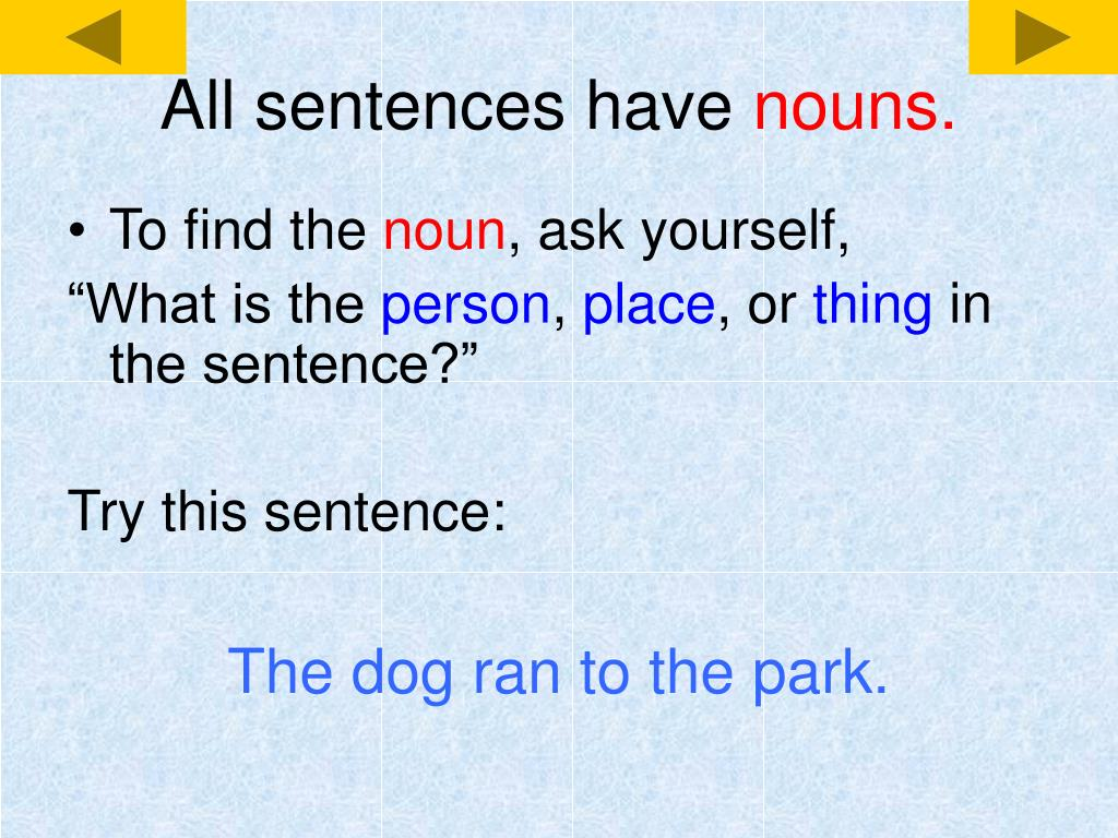 All sentences have