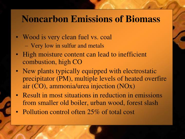 Noncarbon Emissions of Biomass